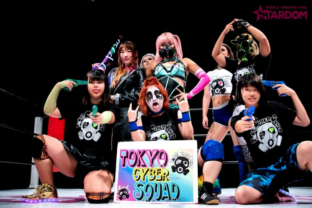 Hana Kimura leads Tokyo Cyber Squad, the newest faction in Stardom.