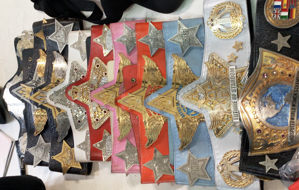 All the championships currently available in Stardom.